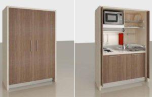 progetto interio design piccoli spazi monoblocco cucina