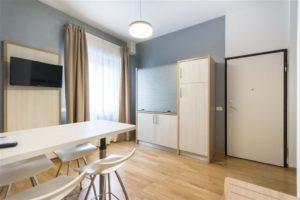 interior design zona giorno monoblocco cucina