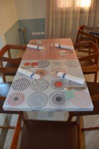 decorazione personalizzata tavoli ristorante