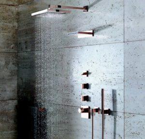 soluzione arredo bagno spa vertical shower