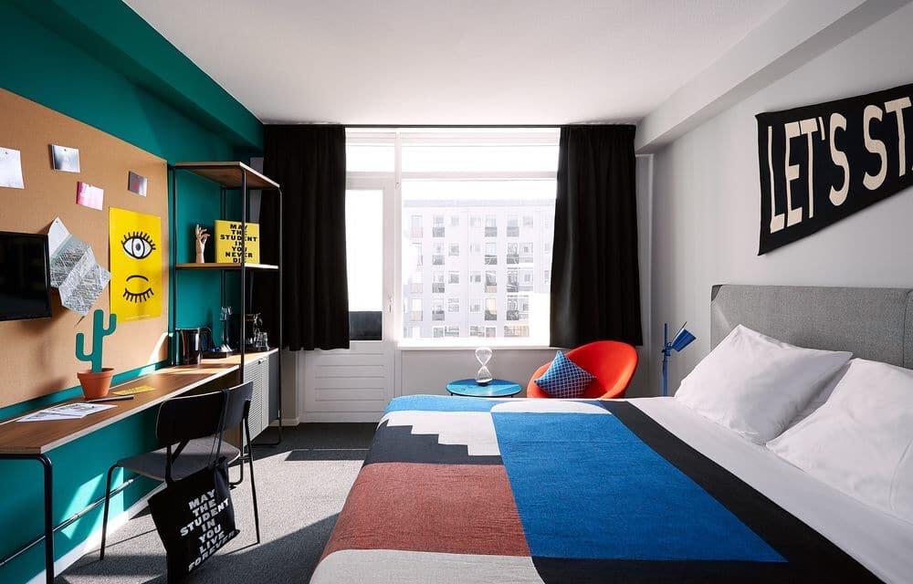 The Student Hotel Firenze concept hotel Interior design trend innovazione viaggiare hospitality design room si hotels